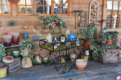 Country ceramic shop Stock Images