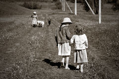 Country children Stock Photo