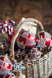 Country Christmas Composition with gifts Royalty Free Stock Images