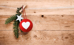 Country Christmas decorations Stock Images