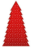 Country Christmas Tree. Decorated with bright Christmas stars Stock Images
