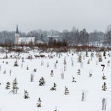 Country chruch in winter Royalty Free Stock Photo