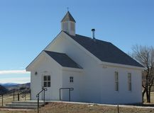 Country Church. A simple white country church in a rural setting Royalty Free Stock Images