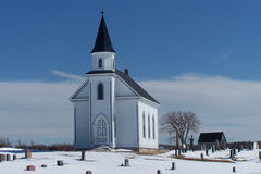 Country Church. Small Rural Area Church with graveyard in front Stock Photography
