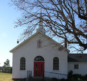 Country Church. A rural white church in North Carolina Royalty Free Stock Photography