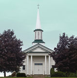 Country church. In a small town Royalty Free Stock Images