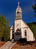 Country Church. A very old country church in historic Greenwood, BC, Canada royalty free stock photo