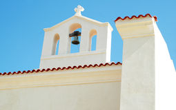 Country Church. White country church whit bell tower royalty free stock image