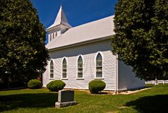 Country Church. Old, well-kept country church royalty free stock images