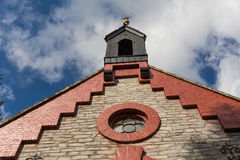 Country church with blue sky Royalty Free Stock Images