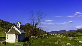 Church And Cemetery In The Smoky Mountains royalty free stock photo