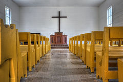 Country church interior Royalty Free Stock Photography