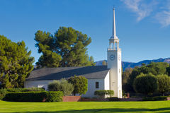 Country Church in Morning Light With Blue Sky Royalty Free Stock Photos