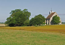 Country church in a rural landscape Stock Image