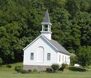 Country church. In a serene setting Royalty Free Stock Photography