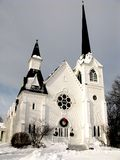 Country Church in the Winter Stock Image
