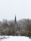 Country church in winter Royalty Free Stock Images