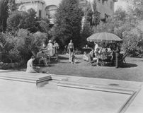 COUNTRY CLUB. (All persons depicted are no longer living and no estate exists. Supplier grants that there will be no model release issues Stock Image