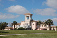 Country Club. Golf clubhouse on perfect day in sarasota florida Stock Photo