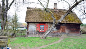 Country cottage. Rural hut in the village of Mazovia Stock Images