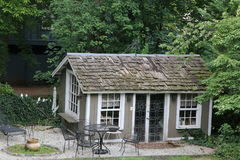 The Country Cottage. The cottage is set in a little valley Royalty Free Stock Photo