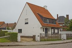 Country cottage in a small Belgian town Royalty Free Stock Photography