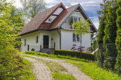 Country cottage. Small cottage in the forest somewhere in the Polish village. Near Krakow and Dunajec river Royalty Free Stock Image