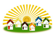 Country cottages Royalty Free Stock Photos