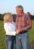 Country Couple Romantic Stock Photo