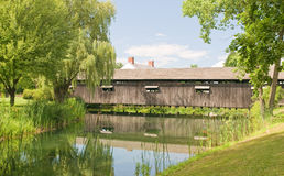 Country covered bridge Royalty Free Stock Photography
