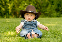 Country Cowboy Baby Stock Images