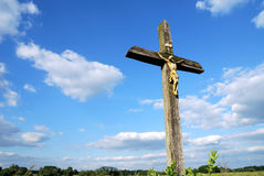 Country cross. A christian cross seen on the coutryside in Bavaria (Germany royalty free stock photos