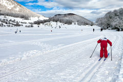 Country-Cross Skier Royalty Free Stock Photo