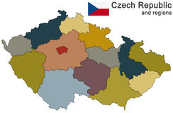 Country Czech Republic and regions Royalty Free Stock Photography