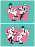 Country Dancers Vector Design. Royalty Free Stock Photos