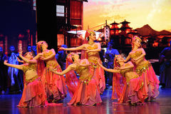 "Country dancing-Large scale scenarios show"" The road legend"". The drama about a Han Princess and king of Tibet Song Xan Gan Bbu and the story, across stock photography"