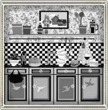 country design kitchen retro style Στοκ εικόνα με δικαίωμα ελεύθερης χρήσης