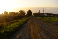 Country dirt road in fall Royalty Free Stock Image