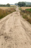 Country dirt road in Poland Royalty Free Stock Photos