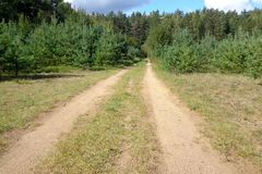 Country dirt road Stock Photography