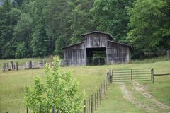 Country Drive into Georgia and found some Amazing old Barns. While out for a Country Drive into Georgia I found some Amazing old Barns stock photo