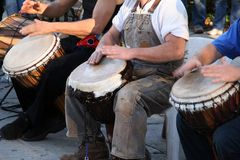 Country Drumming Band Stock Image