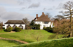 Country Estate. Luxurious House in Rural England Royalty Free Stock Photo