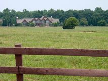 Country estate fenced. Country american estate with close up of fence Stock Photography
