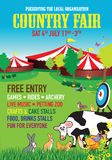 Country fair background image. A country fair background image royalty free illustration