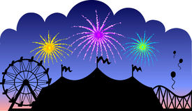Country Fair Fireworks/eps Royalty Free Stock Photo