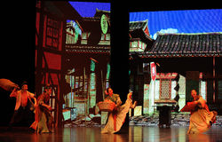 """Country fair-Large scale scenarios show"""" The road legend"""". The drama about a Han Princess and king of Tibet Song Xan Gan Bbu and the story, across Shaanxi Stock Photography"""