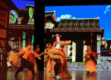 "Country fair-Large scale scenarios show"" The road legend"". The drama about a Han Princess and king of Tibet Song Xan Gan Bbu and the story, across stock images"