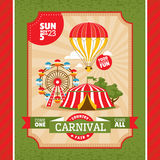 Country fair vintage invitation card Royalty Free Stock Image