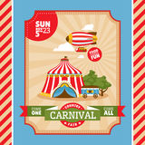 Country fair vintage invitation card. Vector illustration Royalty Free Stock Photo